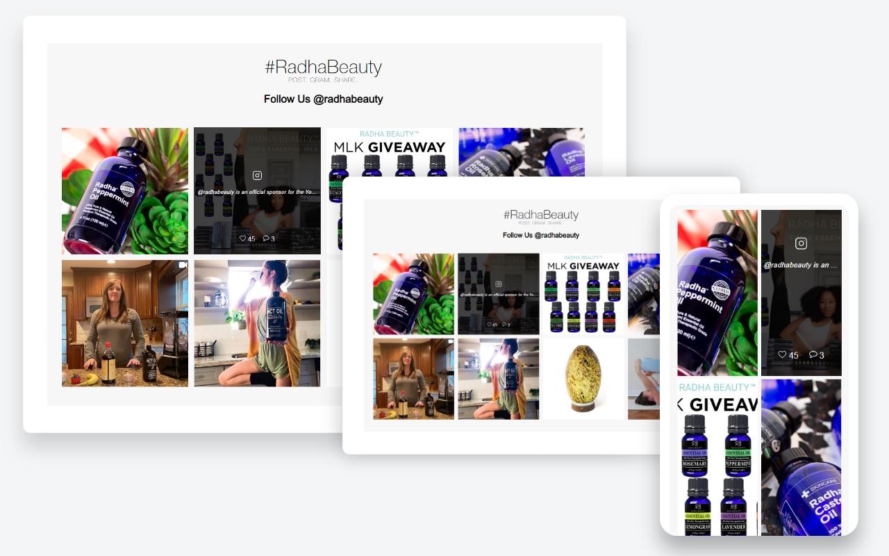 Responsive Instagram Feed