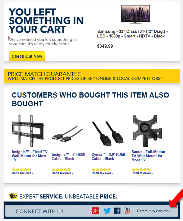 abandoned cart email a